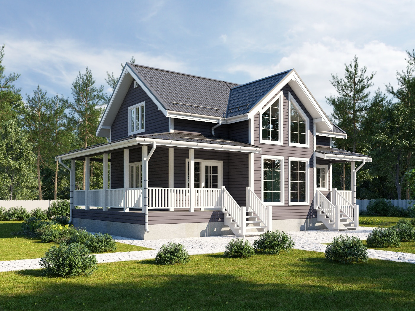 Проект дома d56