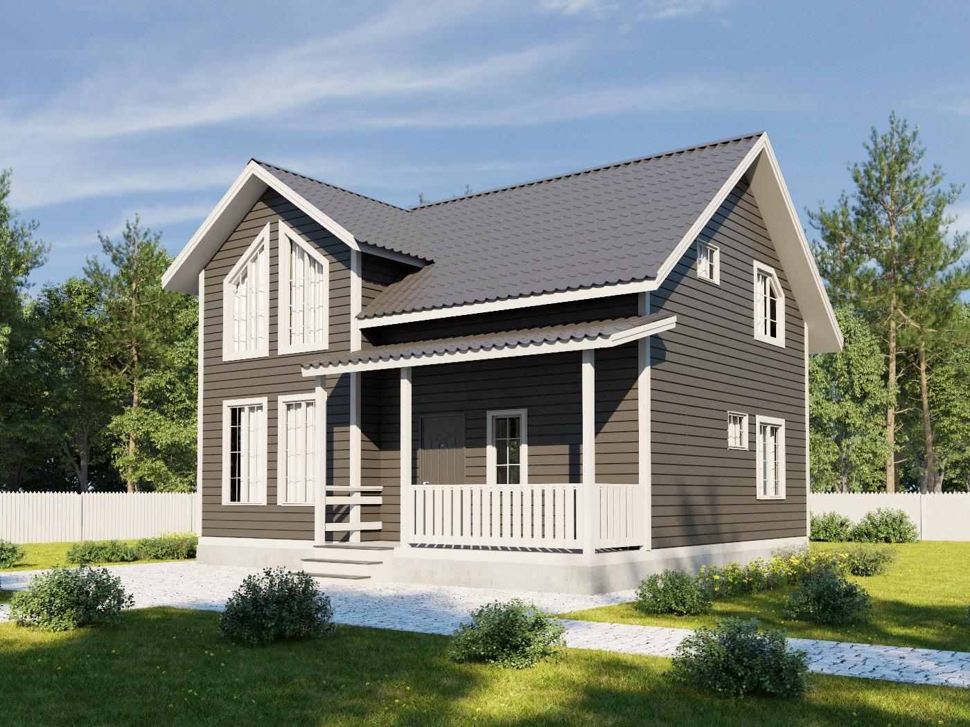 Проект дома d54