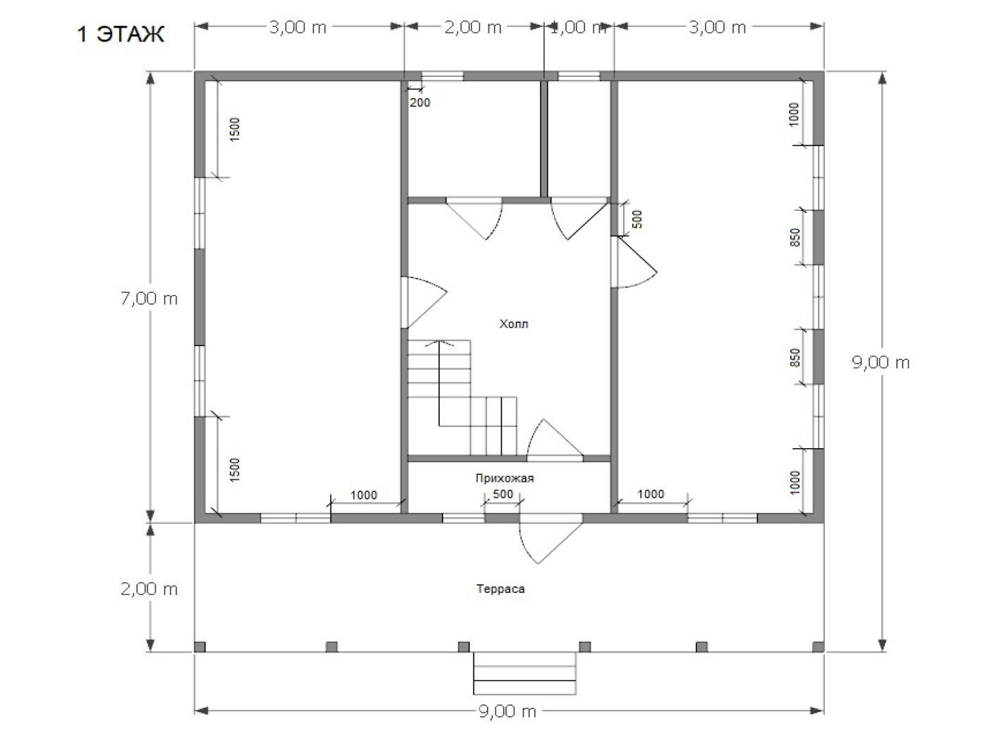 Проект дома D55