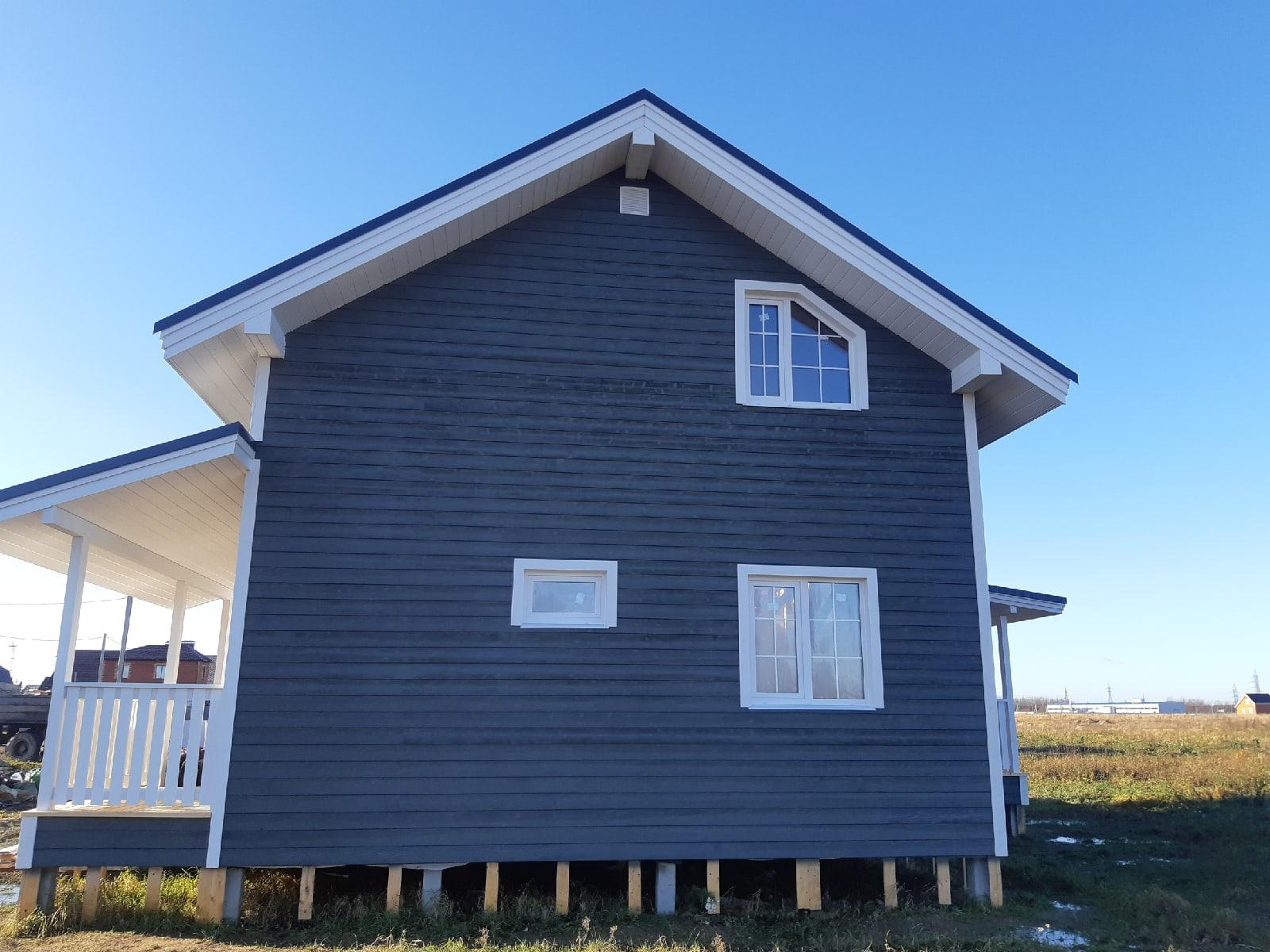 Каркасный дом 7х9 c террасами в КП Новая Мельница
