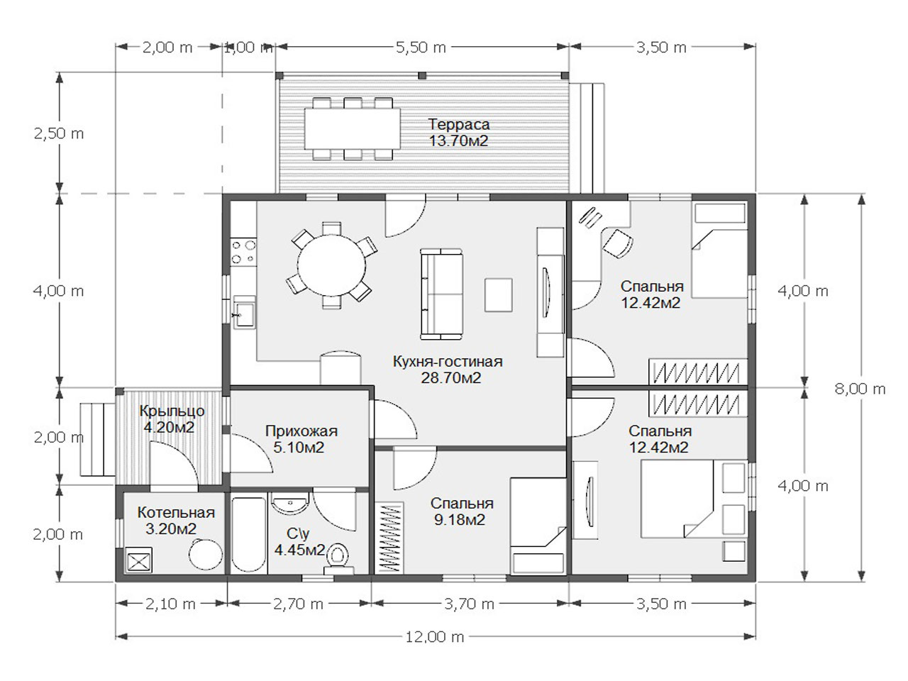 Проект дома D 57