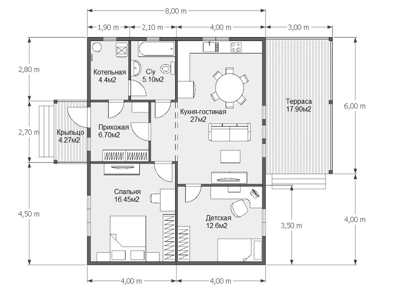 Проект дома D 58