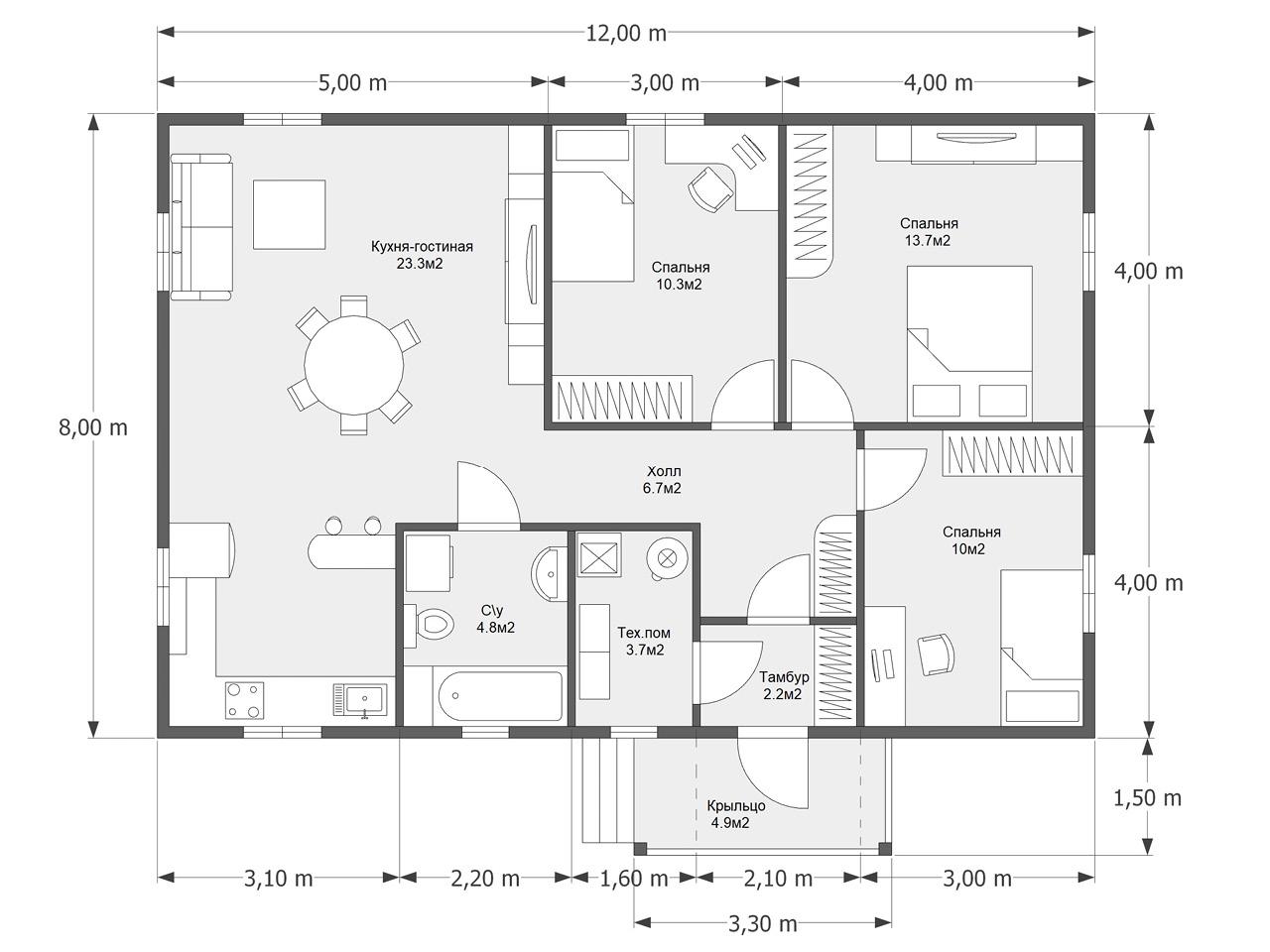 Проект дома D 59