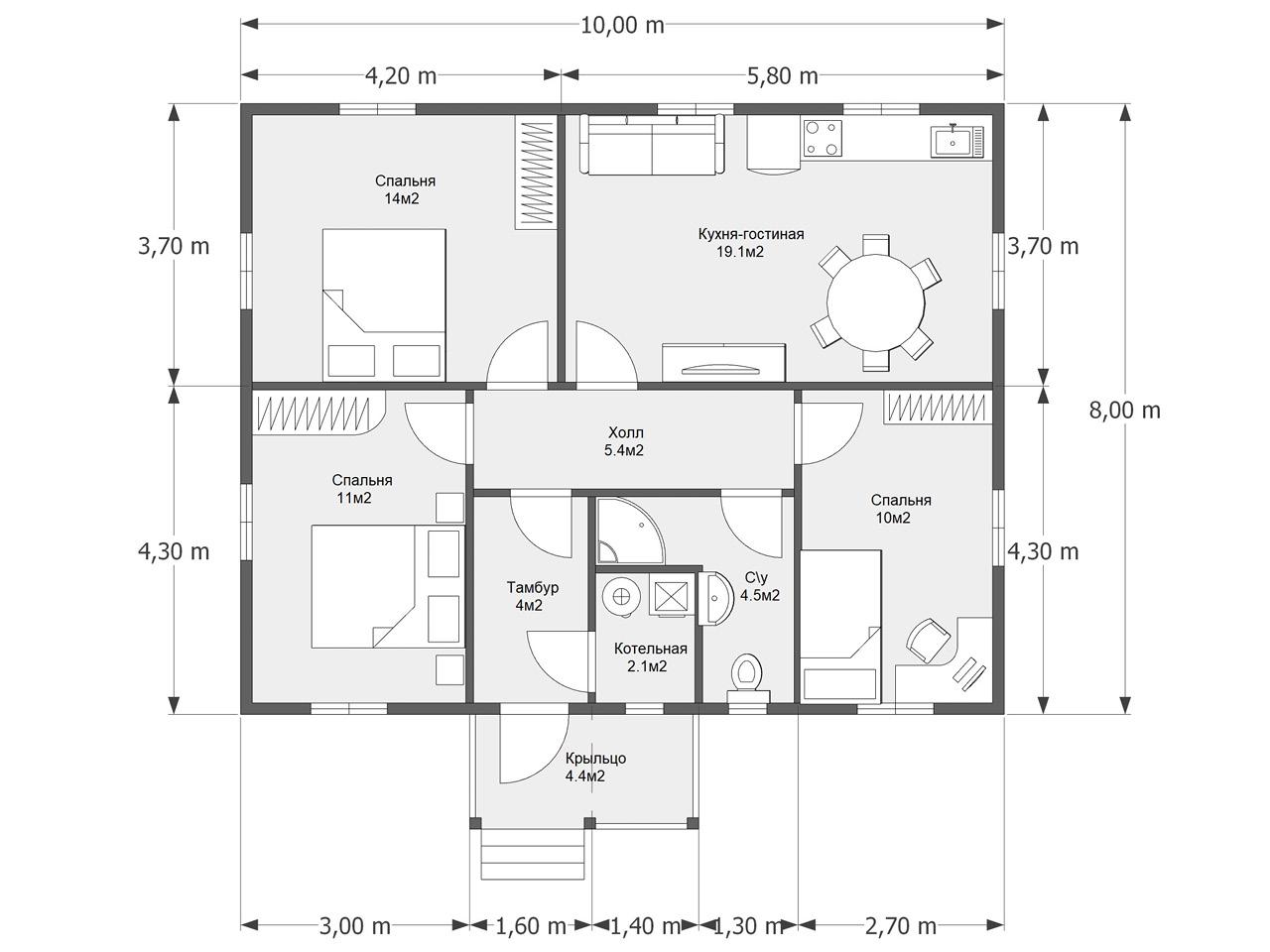 Проект дома D 60
