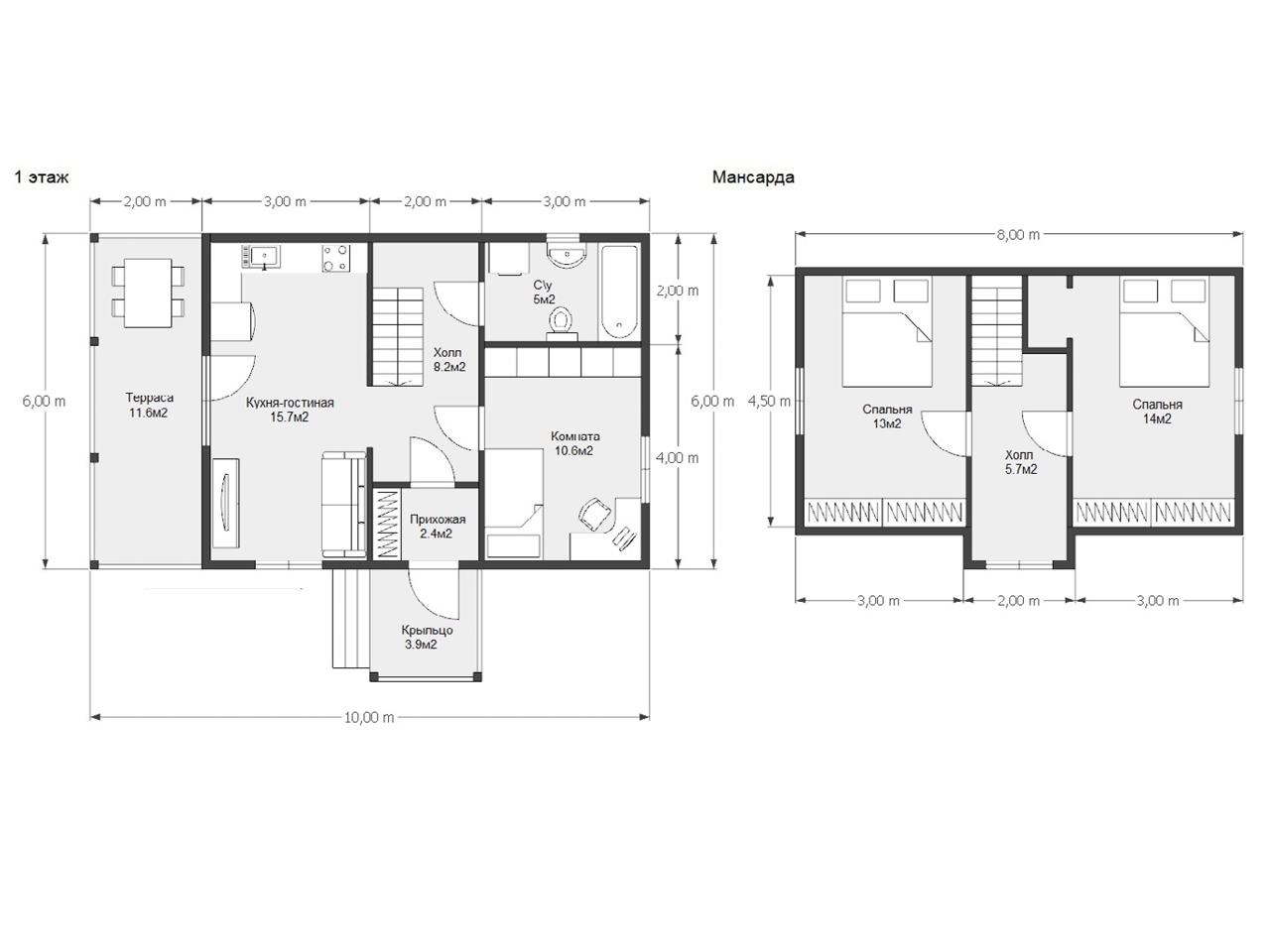 Проект дома: D61
