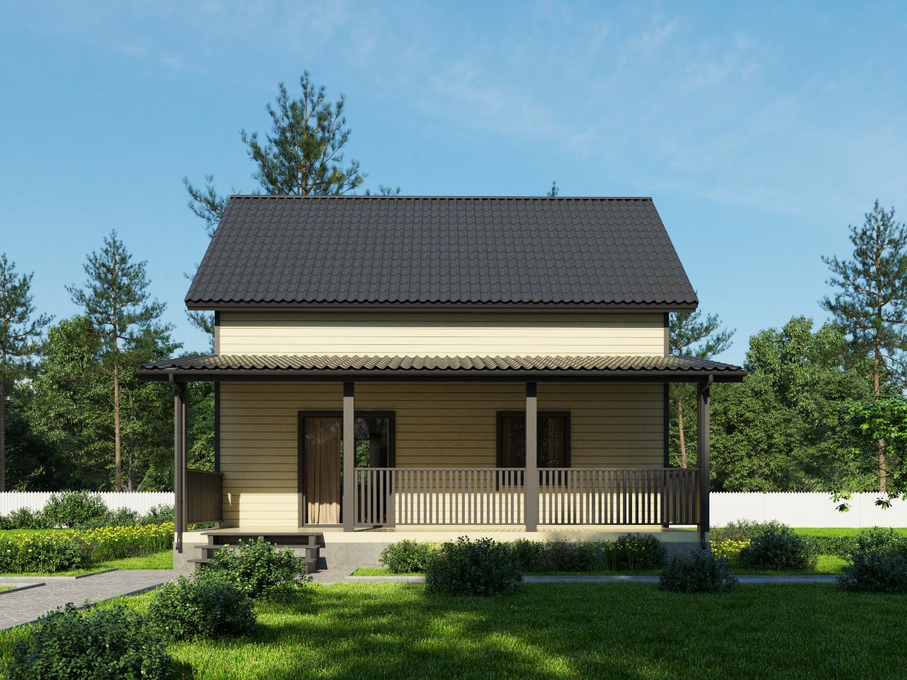 Проект каркасного дома D 62