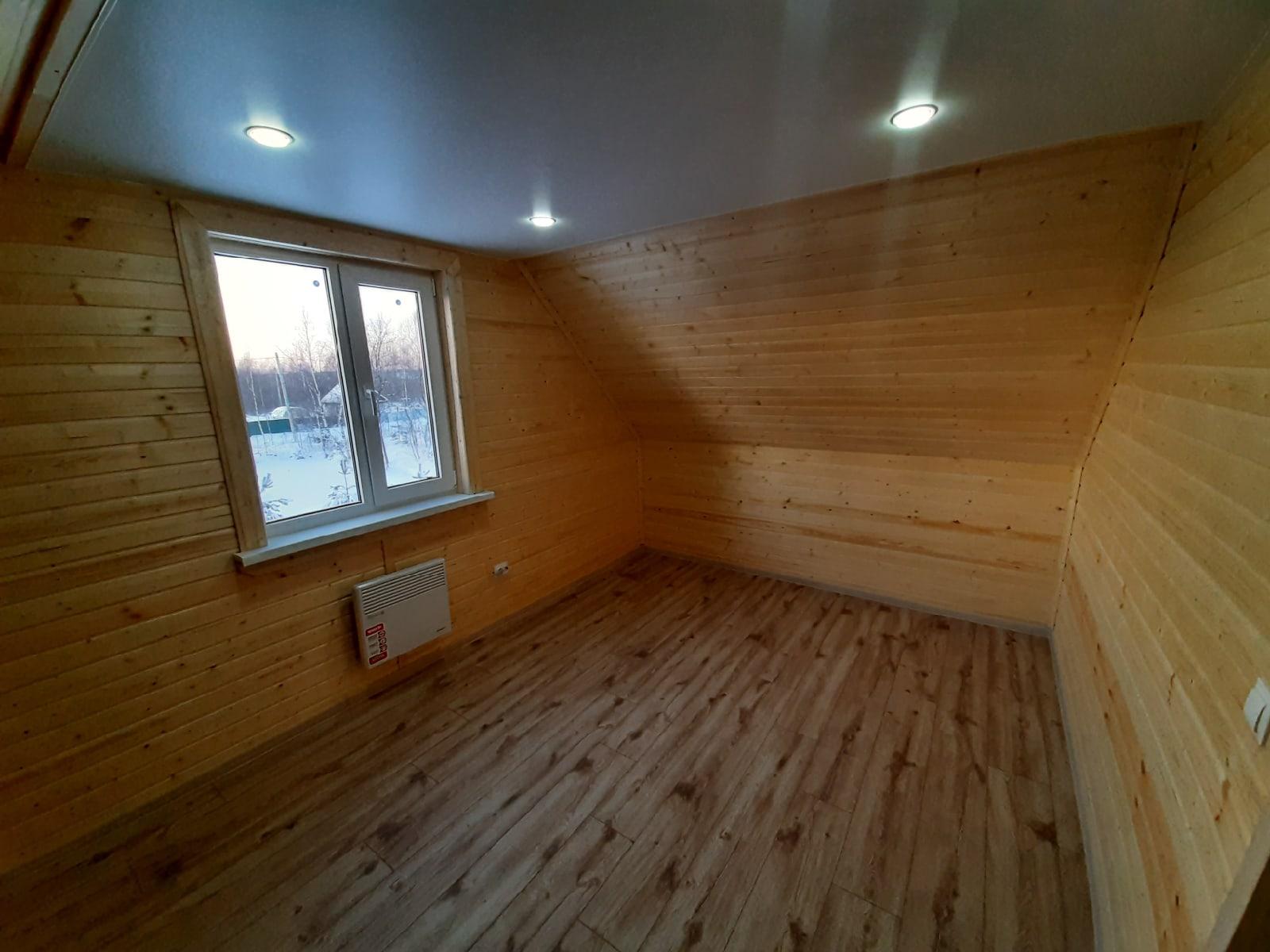 Каркасный дом 6х8м с террасой в д.Новая Мельница Новгородской области