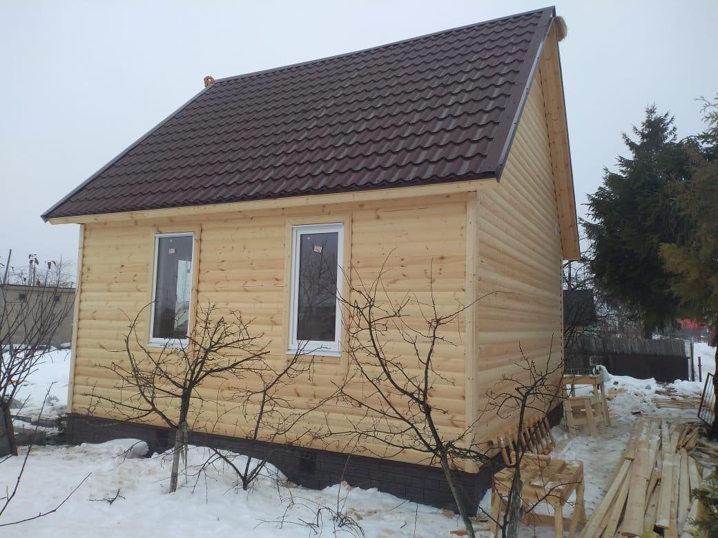 Каркасный дом 6х6м с мансардным этажом п.Панковка