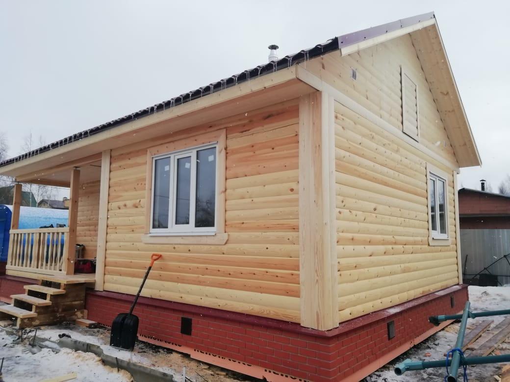 дом 6х9м из профилированного бруса в г.Пушкин