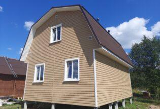 Каркасный дом 6х8м в д.Ермолино Новгородской области