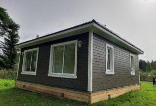 Одноэтажный каркасный дом 8х8м в Лужском районе Ленинградской области