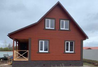 Дом 6х6м из профилированного бруса в д. Горные Морины Новгородской области