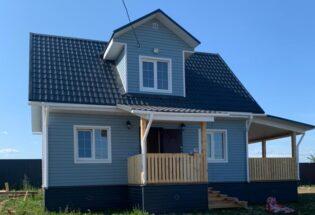 Каркасный дом 6х8м с террасами в д.Горные Морины Новгородской области
