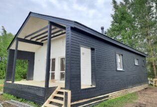 Одноэтажный дом 8х12м в д.Моисеевичи Новгородской области